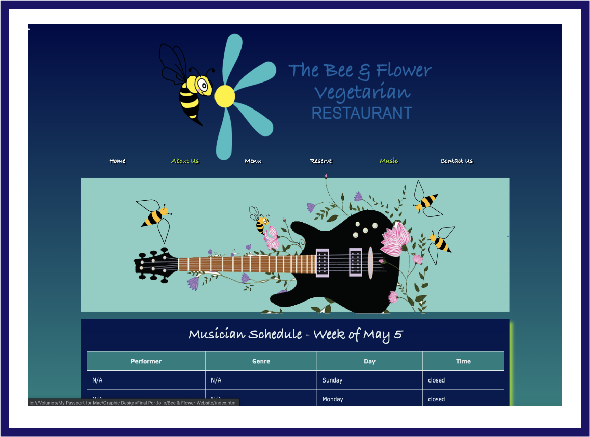 Bee & Flower Website