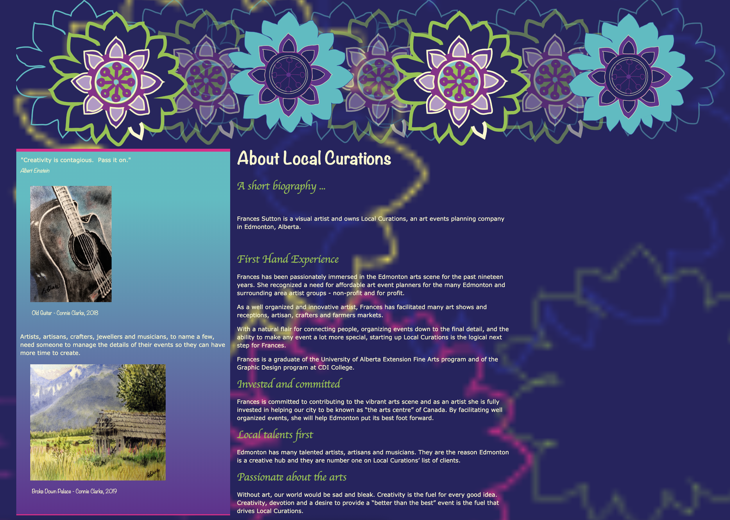 Local Curations Web Design